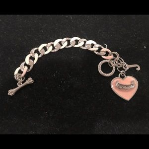 Juicy Couture pink heart toggle bracelet